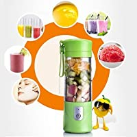 Indiashop247® -New Portable Usb Electric Juicer with Sipper,Blender With Power Bank 2000 Mah - 380Ml Juicer Cup (MULTI COLOUR)