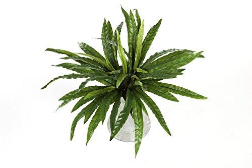 artplants Künstlicher Streifenfarn SANDREO, 55 Blätter, grün, Ø 65 cm, 55 cm - Farn künstlich/Kunst Farn