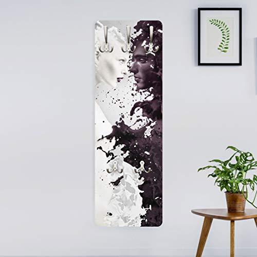 Garderobe - Top Bestseller Garderoben, Größe HxB: 139cm x 46cm, Motiv: Milk & Coffee