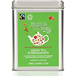 English Tea Shop - Grüner Tee Granatapfel, BIO Fairtrade, Loser Tee, 100g Dose