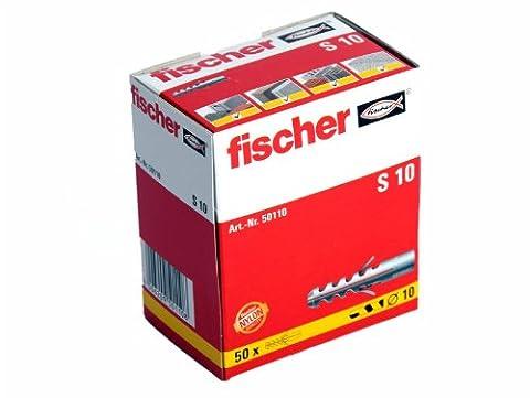 50 Stück Fischer Nylon Dübel S10 10x50 mm 50110