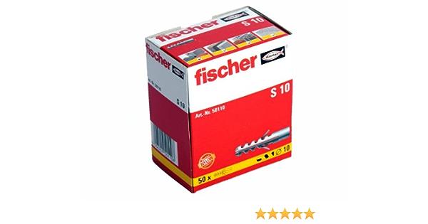 Fischer Spreizdübel Nylondübel Allzweckdübel Dübel S10 2 x 50 Stück