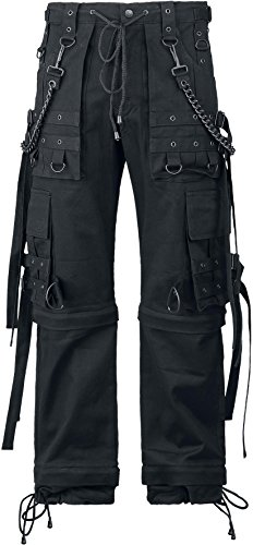 Gothicana by EMP Black Chain (Loose Fit) Pantaloni nero W40L34