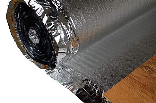100 qm |Trittschaldämmung | Alu Dampfsperre | recyclebar | Hexim | Silver Plus | 2 mm