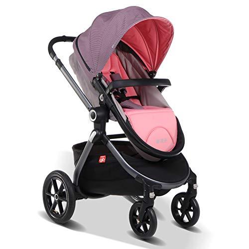 GZF Standardkinderwagen Kinderwagen, kann liegender Kind Baby Klappwagen Stoßdämpfer sitzen,B