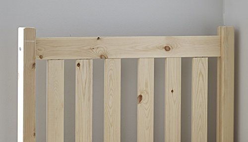 Small Single Bed Pine 2ft 6 (75cm) Single Bed Wooden Frame - Can be used by Adults