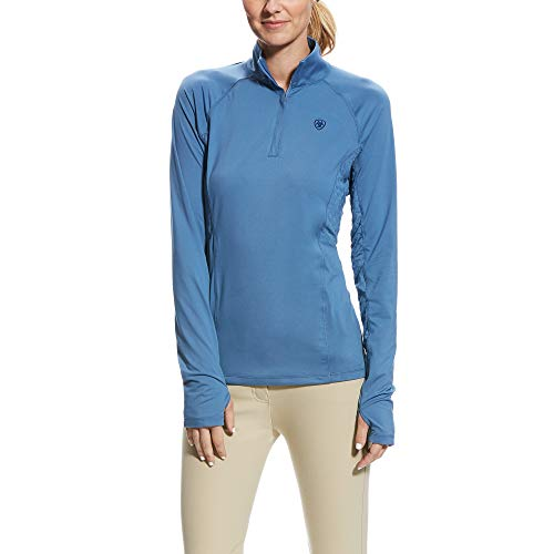 Ariat Damen Shirt Lowell 2.0 1/4 Zip, grisblue, XS