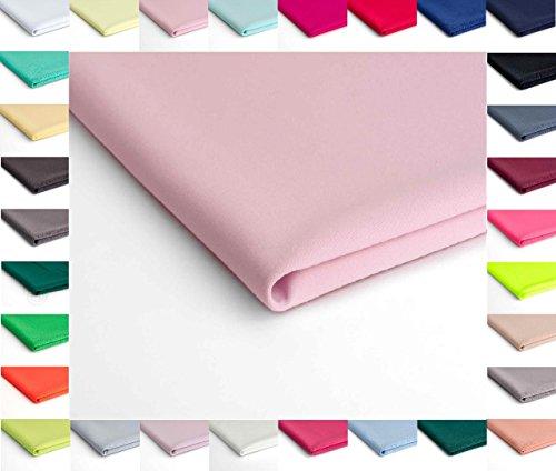 Nurek Scuba Plain Gestrick - 50 x 150 cm - Erhältlich in verschiedenen Farben (Puderrosa Nr.3)