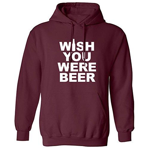 breadandbutterthreads Wish You Were Beer Unisex Felpa con cappuccio Maroon Medium