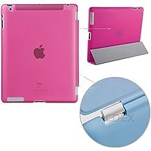 doupi Backcase Arrière Coque iPad ( 5. Generation 2017 Modell ) - convient doupi Smart Cover - Extra Fixation et Protection - Mat Semi Transparent, Rose
