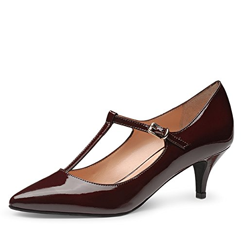 CLAUDIA Damen Pumps Lack Bordeaux