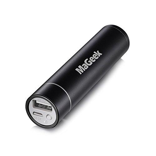 MaGeek® 3200mAh Externer Akku Power Bank USB Ladegerät für iPhone 6s, 6, 5s, Galaxy S7, S7 Edge, S6, S5, S4, Nexus und andere Smartphones und Tablets (Schwarz)