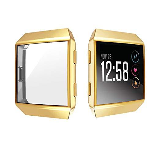 TPU Gehäuse Watch, Webla Case Uhr passt für Fitbit Ionic TPU Displayschutzfolie, Metall -