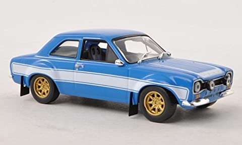 Ford Escort RS2000 MkI, blau/weiss, ''Fast & Furious'' , 1974, Modellauto, Fertigmodell, Greenlight (1974 Ford)