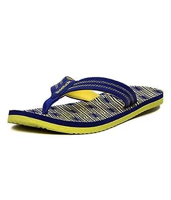Reebok Men's Reebok Printed Flip Lp Blue and Yellow Flip-Flops and House Slippers  - 14 UK