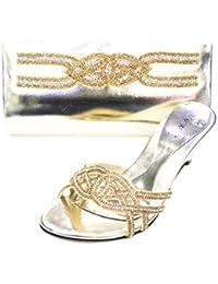 Wear & Walk UK - Sandalias de vestir de Material Sintético para mujer, color dorado, talla 36.5