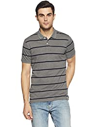 Get In Men's Striped Regular Fit Polo