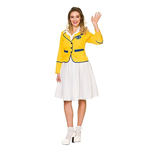 Best Value Female Yellow Coat Holiday Camp Girl Costume - Sizes 10 to 24