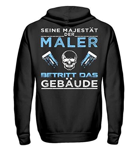 Maler Shirt/Beruf / Handwerk/Arbeitskleidung / Geschenk - Unisex Kapuzenpullover Hoodie -XL-Jet Schwarz