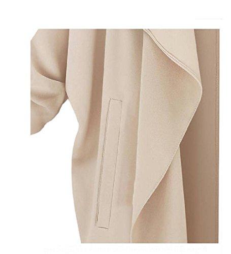 Ouneed® Femme Gilet Longue en Polyester - Autonme Kaki