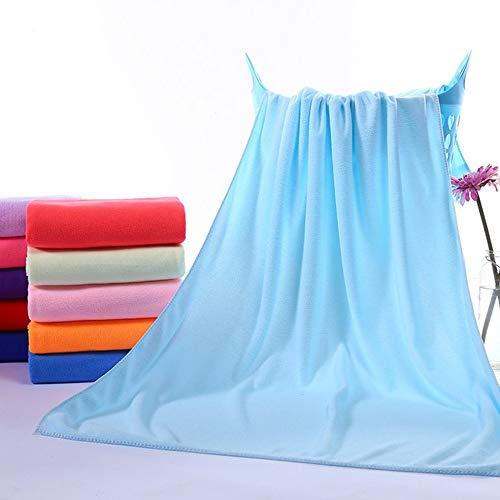 Multipurpose Microfiber Absorbent Fast Drying Bath Beach Towel Washcloth Swimwear Hair Towel Sports Fitness Towels - Blue Sky Swimwear Wrap
