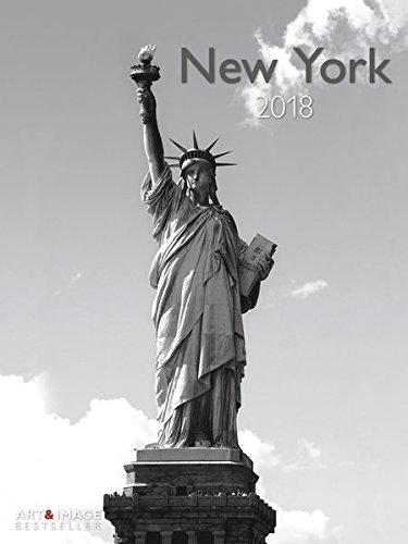 New York 2018 - Wandkalender, Städtekalender, Posterkalender, schwarz & weiß, Wandkalender  -  48 x 64 cm