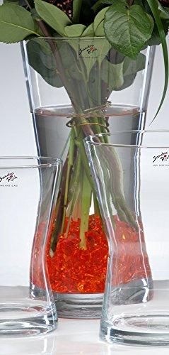 Glasvase POS klar konkav 37 cm Ø 18 cm von Sandra Rich