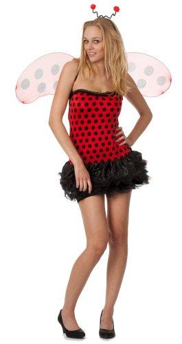 r-dessous hochwertiges Marienkäfer Kostüm mit viel Zubehör 3 tlg ideal für Karneval, Fasching und Kostümparty Groesse: (Marienkäfer Zubehör Kostüm)