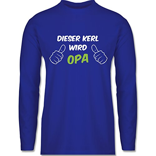 Shirtracer Opa - Dieser Kerl Wird Opa - Herren Langarmshirt Royalblau