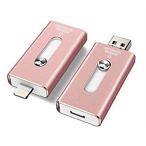 Usb-sti (QinLL 128 GB / 256 GB USB-Flash-Laufwerk für iPhone, iOS Memory Stick, iPad Externe Speichererweiterung für iOS Android PC-Laptops,aa,C,128G)