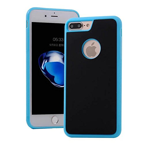EKINHUI Case Cover IPhone 7 plus Abdeckung, Anti Gravity Fall Selbststab Kunststoff Rückseite mit Loch auf Rückseite für IPhone 7 plus ( Color : Black , Size : IPhone7plus ) Blue