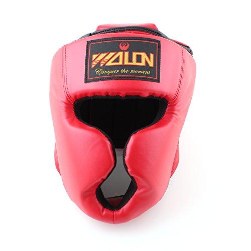 SYMTOP Boxing Sport Kopfschutz Gesichtsschutz Kampfsport Schutzhelm schützend Helm Rot