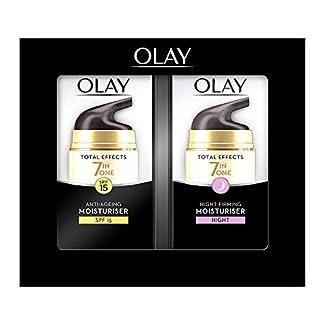 Olay Total Effects Anti-Ageing 7-in-1 Set de Regalo: Day Moisturiser 37 – ml, Night Firming Moisturiser 37 – ml