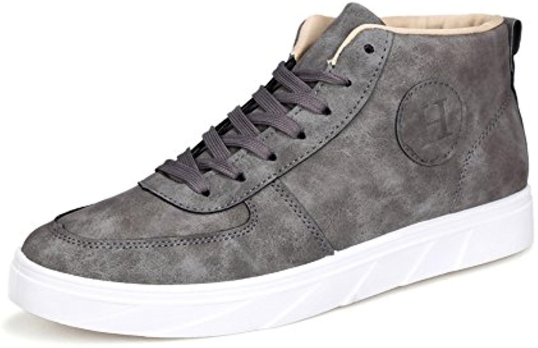 SunnyBaby Herren Casual Flache Sportschuhe Klassische Reine Farbe Loafers Schnürschuhe Canvas Ankle Sneakers