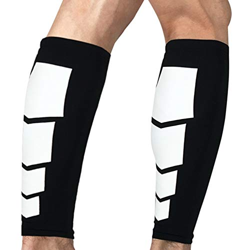 oxoxo sports Calf Sleeves Schienbeinschonerhalter & Stutzenhalter | Rutschfest Dank Silikon-Saum | Schutz und Kompression der Waden | 1 Paar = 2 Stück [M]