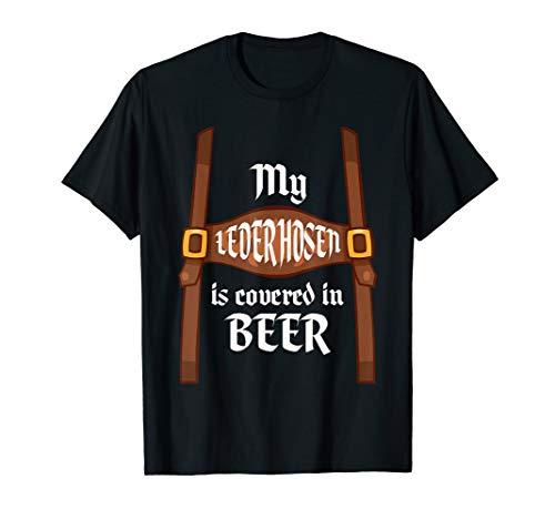 Deutsche Bier Ist Mädchen Outfit - Meine Lederhose abgedeckt ist Bier Oktoberfest