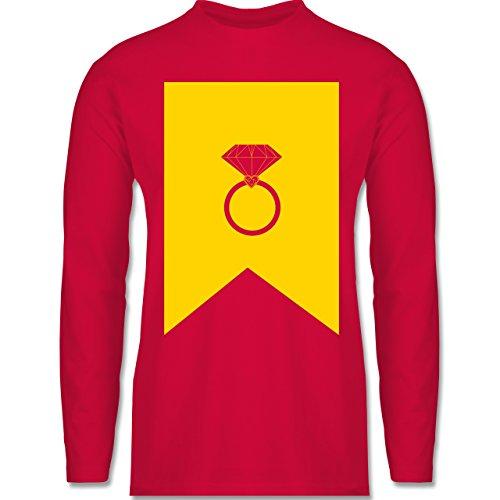 Symbole - Ring Brilliant - Longsleeve / langärmeliges T-Shirt für Herren Rot