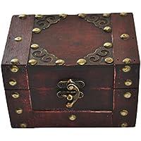 Preisvergleich für Piratenschatztruhe, eckig aus Holz, kleine Schatztruhe, Piratentruhe, Schmuckkästchen - auch für Geldgeschenke uvm.