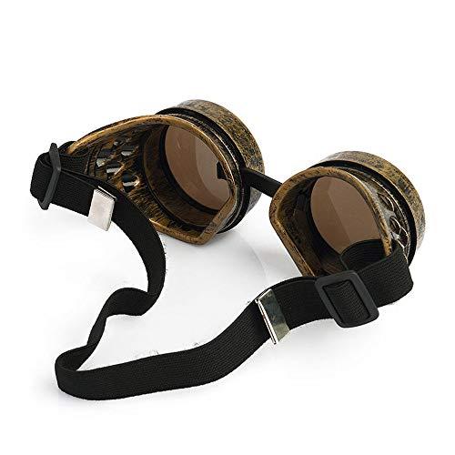 KSHJGV Mosaik-Brille 1 Stück Sonnenbrille Männer Dampf Runde Sonnenbrille Für Herren Hippie Brille