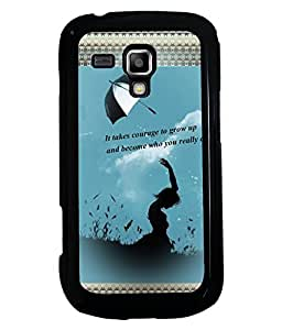 Fuson 2D Printed Quotes Designer back case cover for Samsung Galaxy S Duos 2 S7582 - D4133