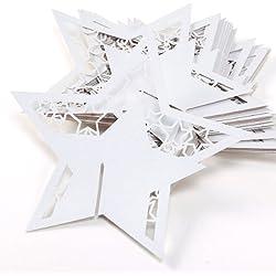 50 uds de marcasitios en forma de estrella