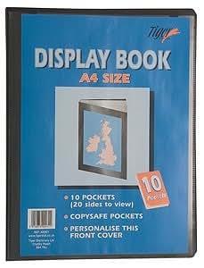 Tiger A4 black display book presentation folder - 10 pocket