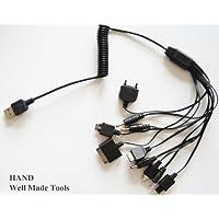 Lunghezza 10in 1multi port caricatore USB, computer, laptop, cavi di collegamento, tutte le porte nuovo–APP-1& # X3001; LG-1& # X3001; MOT-1& # X3001; MOT-2& # X3001; NOK-1& # X3001; NOK-2& # X3001; PSP-1& # X3001; SAMS-1& # X3001; SAMS-2& # X3001; SOER-1, estendere a 85cm.