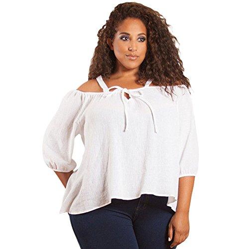 MEINICE Damen T-Shirt Gr. XXXL, weiß