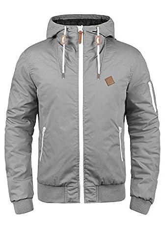SOLID Tilly Herren Übergangsjacke Jacke mit Kapuze aus robustem und hochwertigen Material, Größe:L, Farbe:Monument