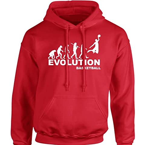 iClobber Basketball Evolution Men's Hoodie Hoody - Large Adult - Red
