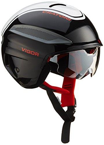 Cratoni Fahrradhelm Vigor, black-white-red glossy, XL (60-61 cm), 111105A4