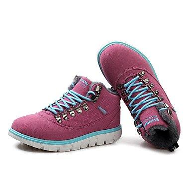 Love & scarpe da uomo stivali primavera/autunno/inverno altri in pelle lace-up casual nero/marrone/bianco altri Red