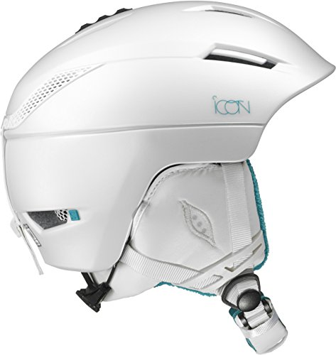 Salomon, Damen Allround-Ski- und Snowboardhelm, EPS 4D, Gr. M, Kopfumfang 56-59 cm, ICON, Weiß, L39037600