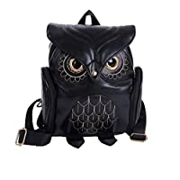YUHUAWYH Fashion Owl Cartoon Backpack Mini Student Bag Girl